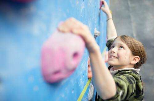 Girl climbing at The Lock